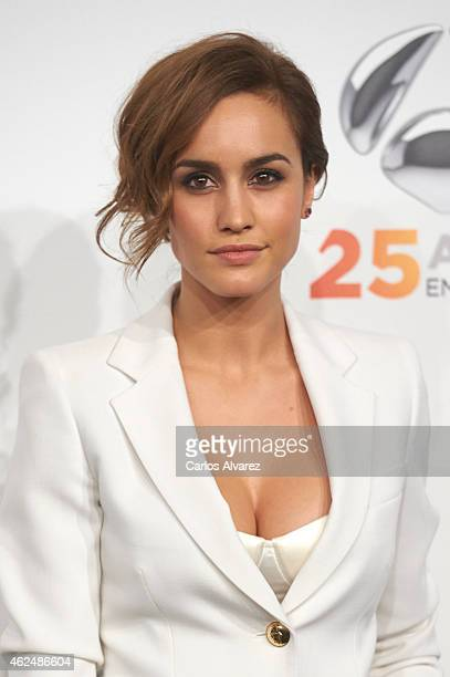 Spanish actress Megan Montaner attends Antena 3 TV Channel 25th anniversary party at the Palacio de Cibeles on January 29 2015 in Madrid Spain
