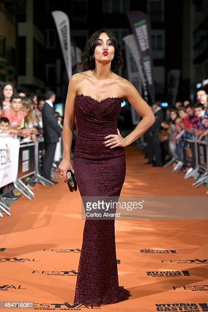 Spanish actress Megan Montaner attends the 'Bajo Sospecha' new season premiere at the Principal Theater during day 5 of the 6th FesTVal Television...
