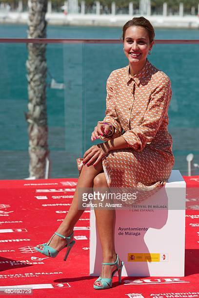 Spanish actress Megan Montaner attends the 'Dioses y Perros' photocall during the 17th Malaga Film Festival 2014 Day 5 on March 25 2014 in Malaga...