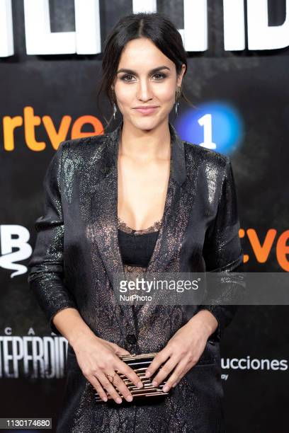 Spanish actress Megan Montaner attends the Premiere of the series LA CAZA MONTEPERDIDO at the capitol cinema in madrid spain March 12 2019