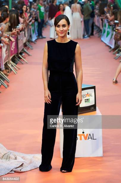 Spanish actress Megan Montaner attends 'Velvet Colecction' premiere at the Principal Teather during the FesTVal 2017 on September 5 2017 in...