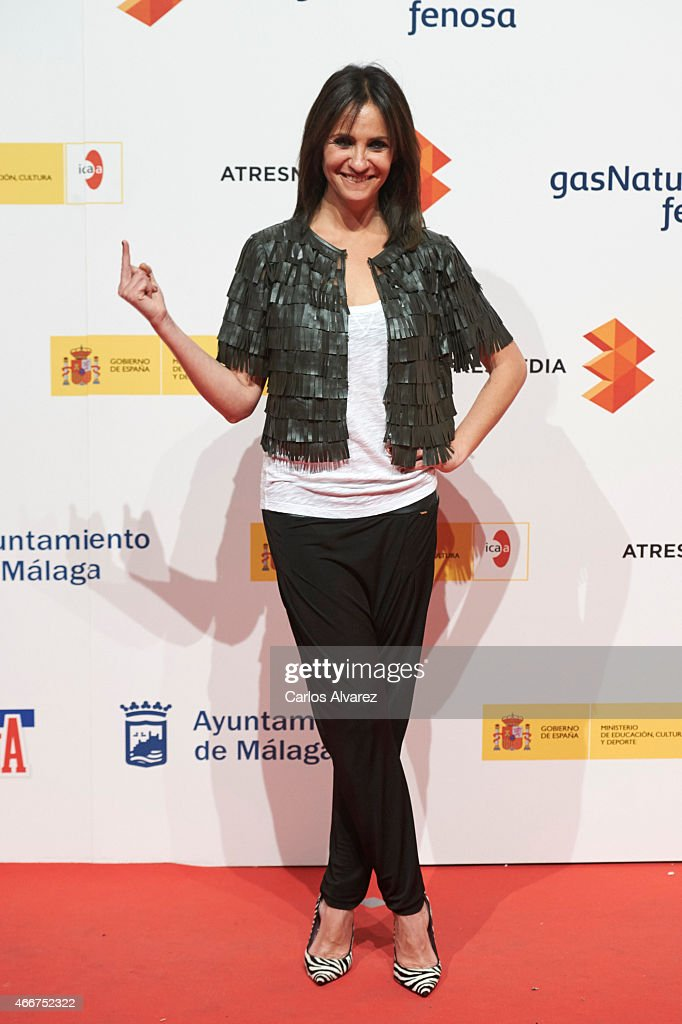 Spanish actress Melani Olivares attends the Malaga Film Festival cocktail presentation at Circulo de Bellas Artes on March 18, 2015 in Madrid, Spain.