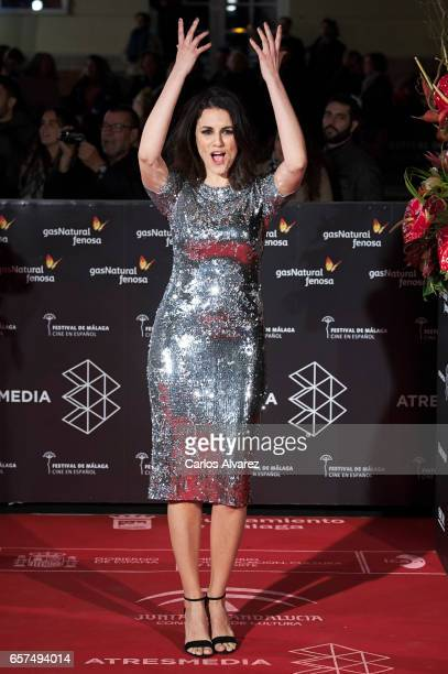 Spanish actress Melina Matthews attends the 'Pieles' premiere on day 8 of the 20th Malaga Film Festival at the Cervantes Teather on March 24 2017 in...