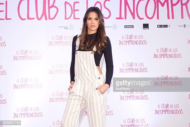 Spanish actress Michelle Calvo attends 'El Club de los Incomprendidos' photocall at the ME Hotel on December 16 2014 in Madrid Spain Photo Oscar...