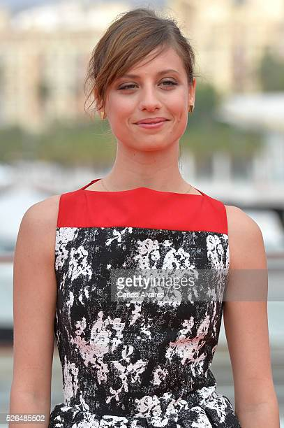 Spanish actress Michelle Jenner attends Nuestros Amantes photocall during the 19th Malaga Film Festival on April 30 2016 in Malaga Spain