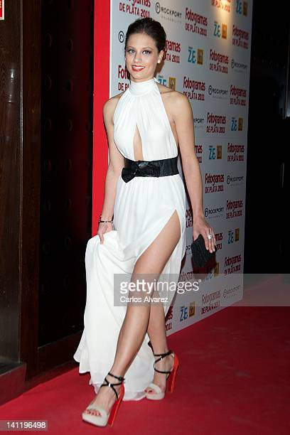 Spanish actress Michelle Jenner attends the Fotogramas Awards 2012 at Joy Eslava Club on March 12 2012 in Madrid Spain