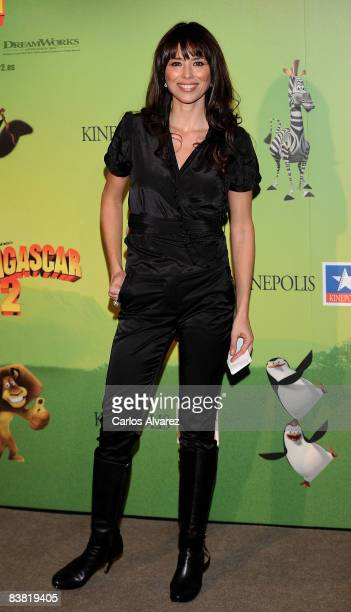 Spanish actress Minerva Piquero attends the 'Madagascar 2' premiere at Kinepolis Cinema on November 25 2008 in Madrid Spain
