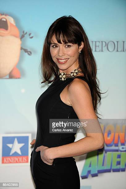 Spanish actress Minerva Piquero attends the premiere of ''Monster vs Aliens'' at the Kinepolis Cinema on March 12 2009 in Madrid Spain