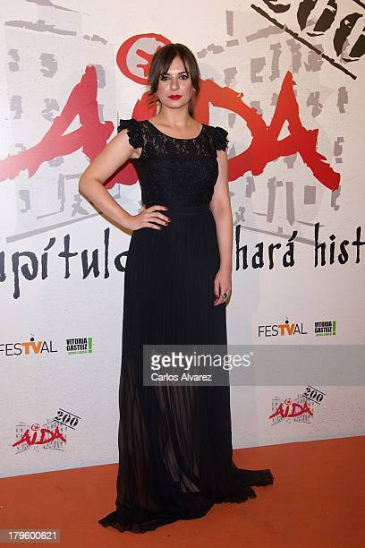Spanish actress Miren Ibarguren attends the Aida new season red carpet during the day four of 5th FesTVal Television Festival 2013 at the Villa Suso...