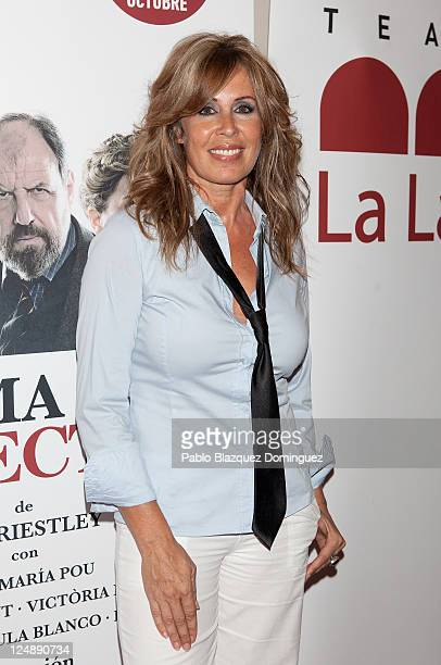 Spanish actress Miriam Diaz Aroca attends 'Llama a un Inspector' Premiere at La Latina Theatre on September 13 2011 in Madrid Spain