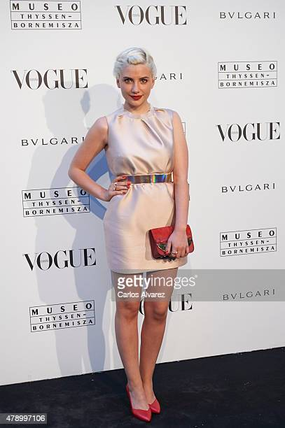 Spanish actress Miriam Giovanelli attends 'Vogue Like a Painting' exhibition at the Thyssen Bornemisza Museum on June 29 2015 in Madrid Spain