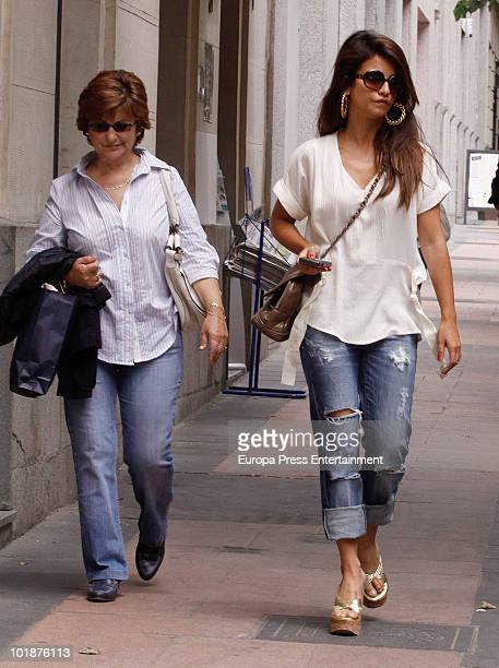 Spanish actress Monica Cruz and her mother Encarna Sanchez are seen on June 8 2010 in Madrid Spain
