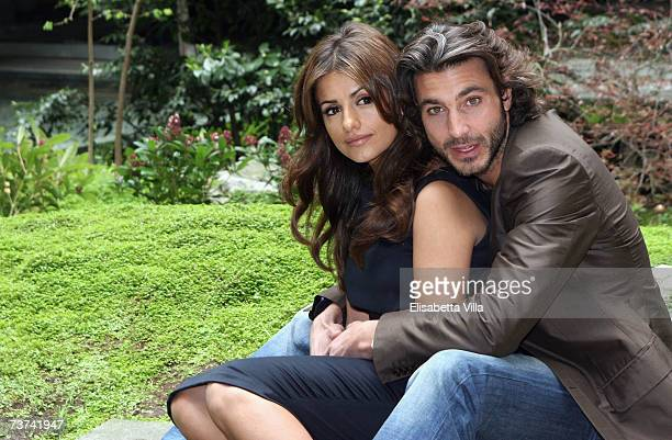 Spanish actress Monica Cruz and Italian actor Daniele Liotti pose during the photocall of the TV film 'L'inchiesta' at RAI Viale Mazzini on March 29...