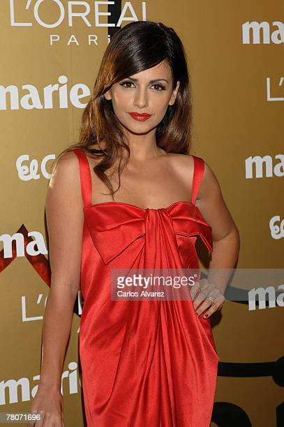 Spanish actress Monica Cruz attends the 5th Marie Claire Magazine Awards at the French Embassy November 22 2007 in Madrid Spain