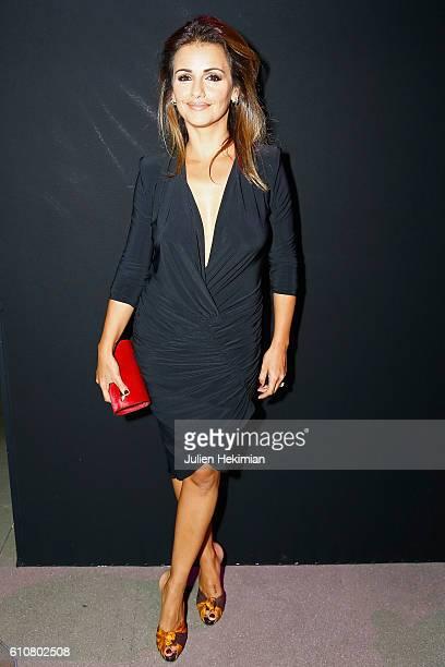 Spanish actress Monica Cruz attends the Etam show as part of the Paris Fashion Week Womenswear Spring/Summer 2017 on September 27 2016 in Paris France