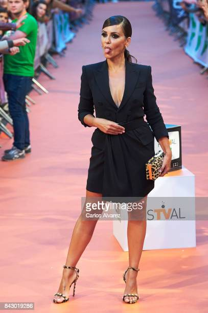 Spanish actress Monica Cruz attends 'Velvet Colecction' premiere at the Principal Teather during the FesTVal 2017 on September 5 2017 in...