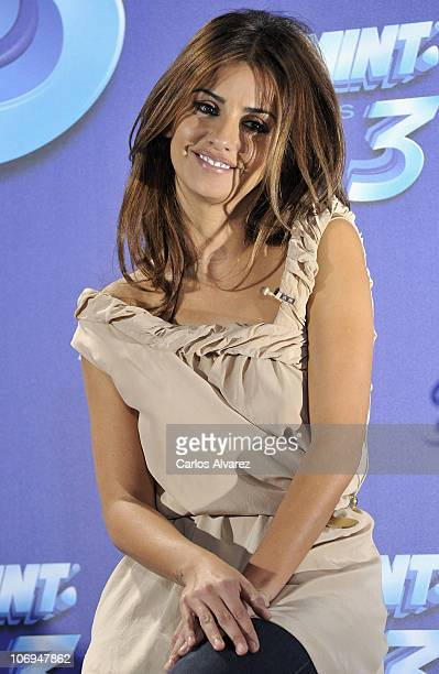 Spanish actress Monica Cruz presents new 'Smint Kiss 3' on November 18 2010 in Madrid Spain