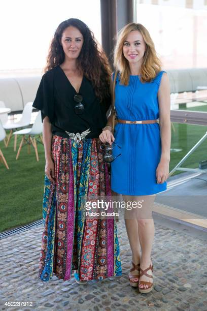 Spanish actress Monica Estarreado and Marta Hazas attend MFShow Men on July 16 2014 in Madrid Spain