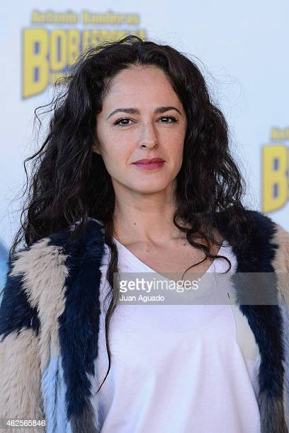 Spanish actress Monica Estarreado attends the 'Bob Esponja' Premiere at Kinepolis Cinema on January 31 2015 in Madrid Spain