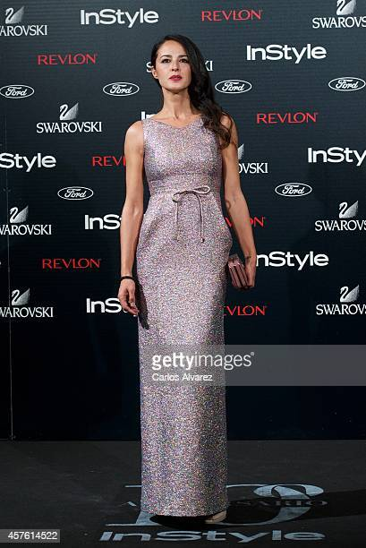 Spanish actress Monica Estarreado attends the In Style Magazine 10th Anniversary party at the Melia Fenix Hotel on October 21 2014 in Madrid Spain