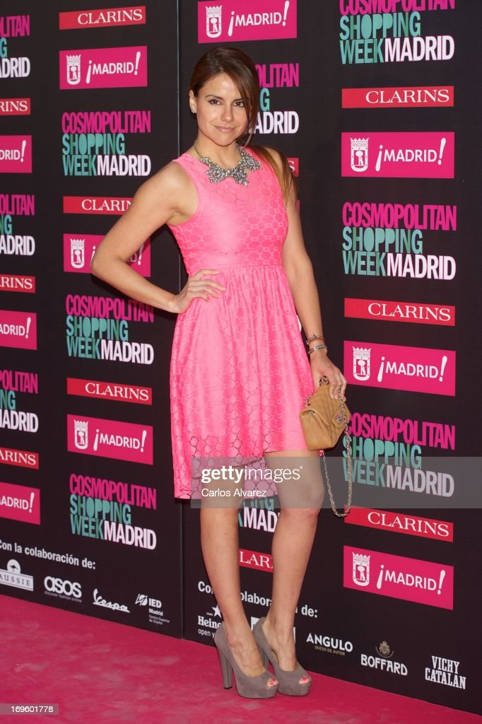 Spanish actress Monica Hoyos attends the 'Cosmopolitan Shopping Week' party at the Plaza de Callao on May 28, 2013 in Madrid, Spain.