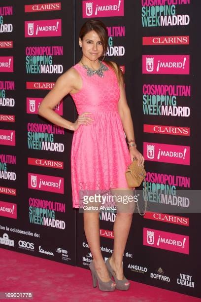 Spanish actress Monica Hoyos attends the 'Cosmopolitan Shopping Week' party at the Plaza de Callao on May 28 2013 in Madrid Spain