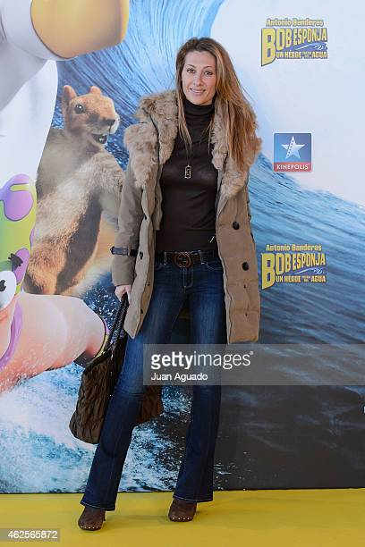 Spanish actress Monica Pont attends the 'Bob Esponja' Premiere at Kinepolis Cinema on January 31 2015 in Madrid Spain
