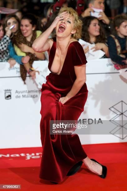 Spanish actress Najwa Nimri attends the 17th Malaga Film Festival 2014 opening ceremony at tne Cervantes Theater on March 21, 2014 in Malaga, Spain.