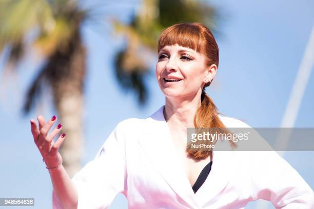 Spanish actress Najwa Nimri attends 'Vis a Vis' photocall during the 21th Malaga Film Festival on April 15 2018 in Malaga Spain