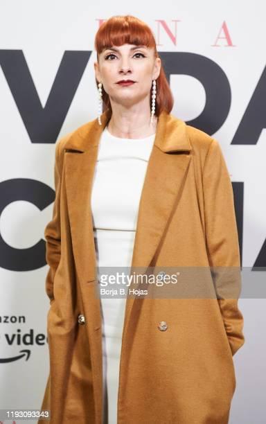 Spanish actress Najwa Nimri atttends the photocall presentation of 'Una Vida Una Cena' by Amazon Prime Video on December 10 2019 in Madrid Spain