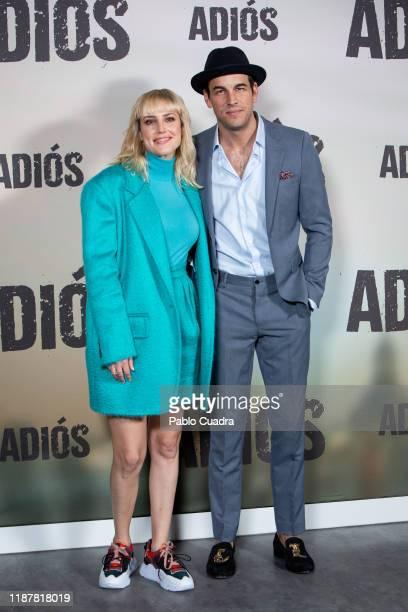 Spanish actress Natalia de Molina and actor Mario Casas attend 'Adios' photocall on November 15 2019 in Madrid Spain
