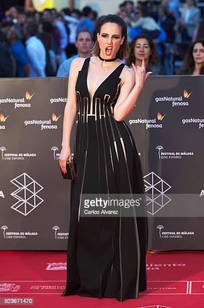 Spanish actress Natalia de Molina attends 'La Punta del Iceberg' premiere at the Cervantes Theater during the 19th Malaga Film Festival 2016 Day 2 on...