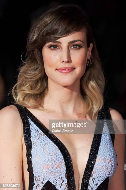 Spanish actress Natalia de Molina attends the 20th Malaga Film Festival closing ceremony at the Cervantes Teather on March 25 2017 in Malaga Spain