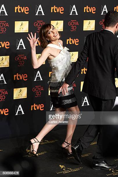 Spanish actress Natalia de Molina attends the candidates to Goya Cinema Awards 2016 dinner party at the Cibeles Palace on January 26 2016 in Madrid...