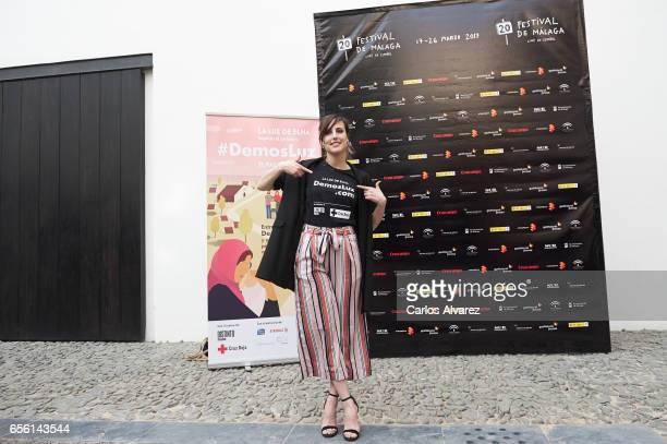 Spanish actress Natalia de Molina attends the 'La Luz de Elna' photocall on day 5 of the 20th Malaga Film Festival on March 21 2017 in Malaga Spain