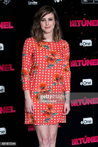 Spanish actress Natalia de Molina attends the 'Los Del Tunel' photocall at Palafox Cinema on January 17 2017 in Madrid Spain