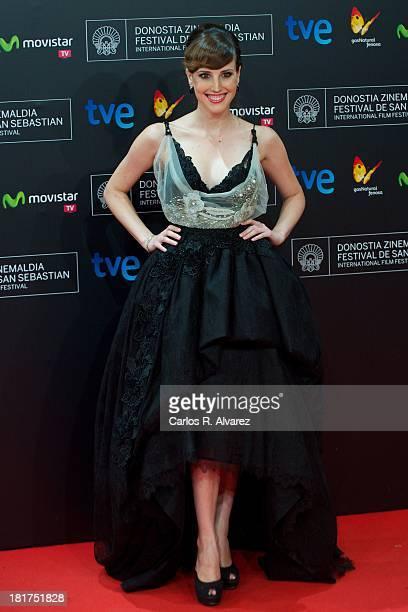 Spanish actress Natalia de Molina attends the 'Vivir Es Facil Con Los Ojos Cerrados' premiere at Kursaal Palace during the 61st San Sebastian...