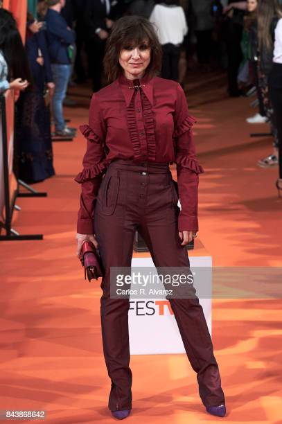 Spanish actress Nathalie Poza attends the 'Traicion' premiere at the Principal Teather during the FesTVal 2017 on September 7 2017 in VitoriaGasteiz...