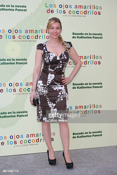 Spanish actress Nazaret Jimenez attends the Los Ojos Amarillos de los cocdrilos premiere at the Academia de Cine on April 30 2014 in Madrid Spain