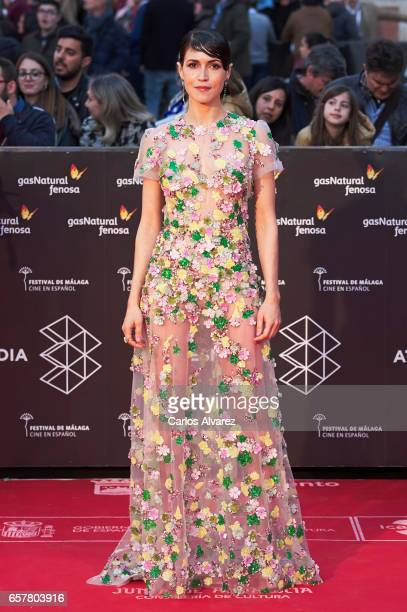 Spanish actress Nerea Barros attends the 20th Malaga Film Festival closing ceremony at the Cervantes Teather on March 25 2017 in Malaga Spain