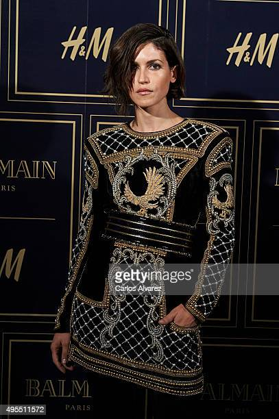 Spanish actress Nerea Barros attends the Balmain and HM Collection launch party at the Neptuno Palace on November 3 2015 in Madrid Spain