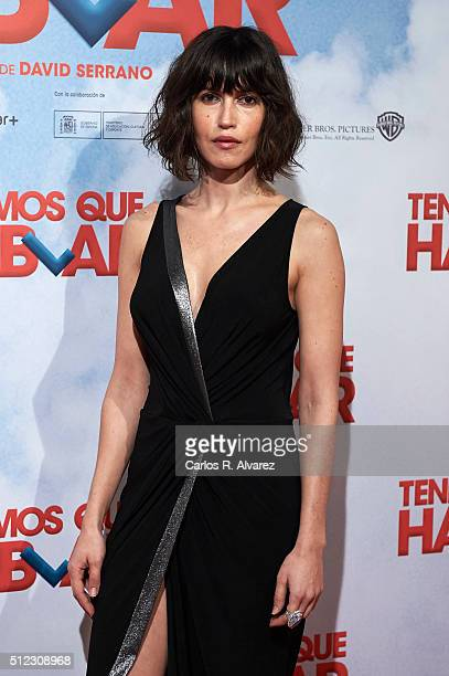 Spanish actress Nerea Barros attends the 'Tenemos Que Hablar' premiere at the Palacio de la Prensa cinema on February 25 2016 in Madrid Spain
