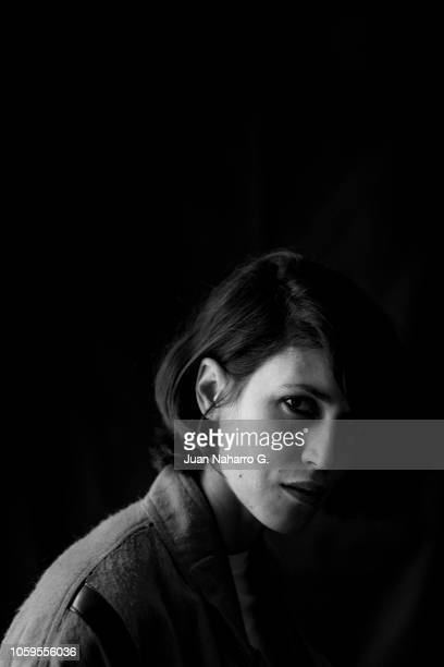 Spanish actress Nerea Barros poses for a portrait session during 63rd SEMINCI International Film Week of Valladolid on October 25 2018 in Valladolid...