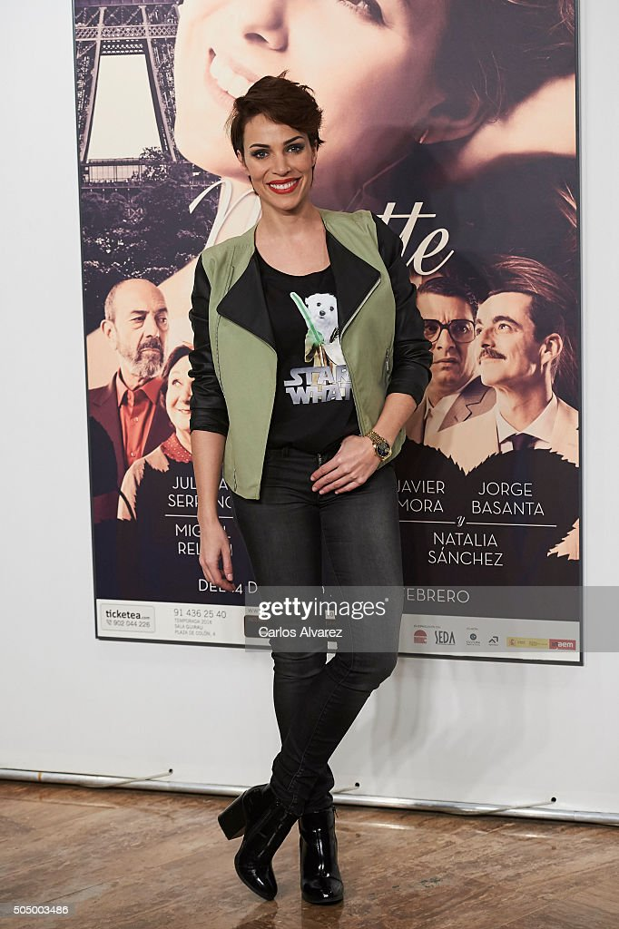 Spanish actress Nerea Garmendia attends 'Ninette y un Senor de Murcia' premiere at the Fernan Nunez Theater on January 14, 2016 in Madrid, Spain.