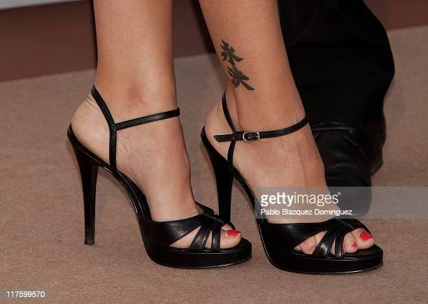 Spanish actress Nerea Garmendia 'shoe detail' attends 'GQ Elegant Men of the Year' Awards 2011 at the Italian Embassy on June 28 2011 in Madrid Spain