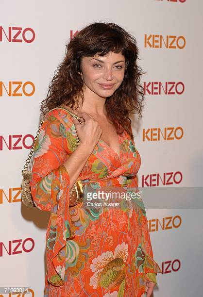 Spanish actress Neus Asensi attends the Kenzo Summer Party and the launch of the fragrance Kenzo Amour at the Urban hotel on June 21 2006 in Madrid...
