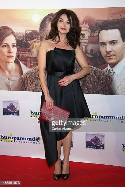 Spanish actress Neus Asensi attends the Night Train to Lisbon premiere at the Palafox cinema on April 9 2014 in Madrid Spain
