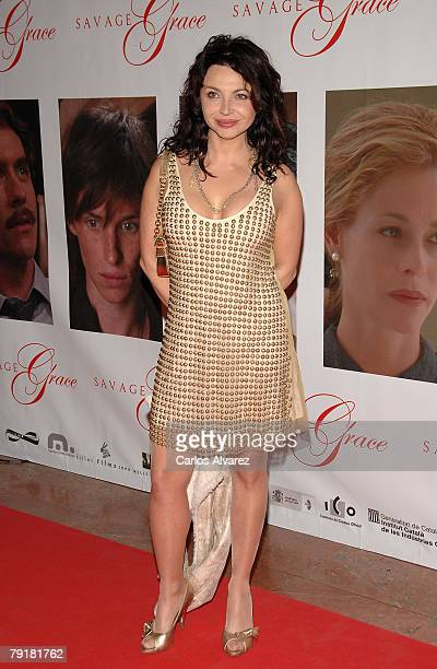 Spanish actress Neus Asensi attends the premiere of Savage Grace on January 23 2008 at the Palacio de la Musica cinema in Madrid