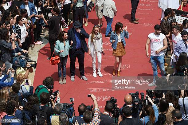 Spanish actress Neus Asensi Spanish director Alfonso Albacete and Spanish actresses Maria Esteve and Natalia de Molina pose for the photographers to...