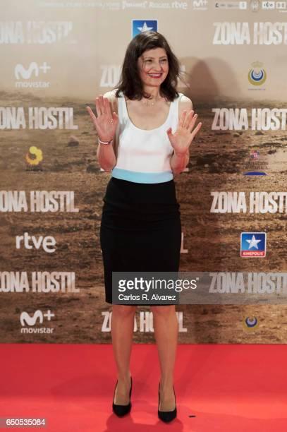 Spanish actress Nieve de Medina attends 'Zona Hostil' premiere at the Kinepolis cinema on March 9 2017 in Madrid Spain